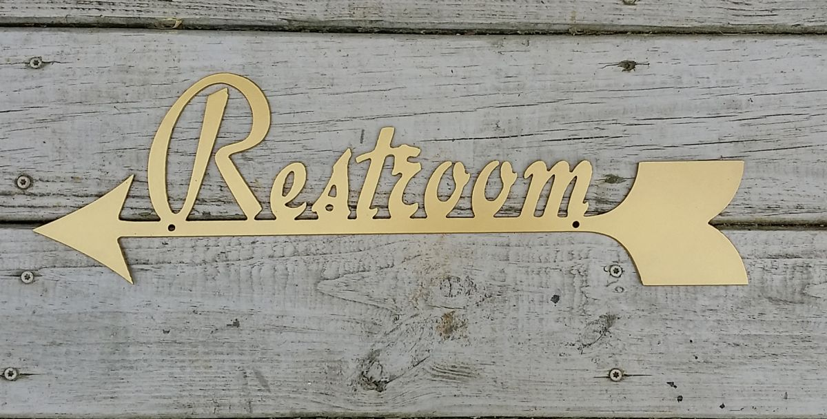 Restroom Arrow Sign Pointing Left Business Signs
