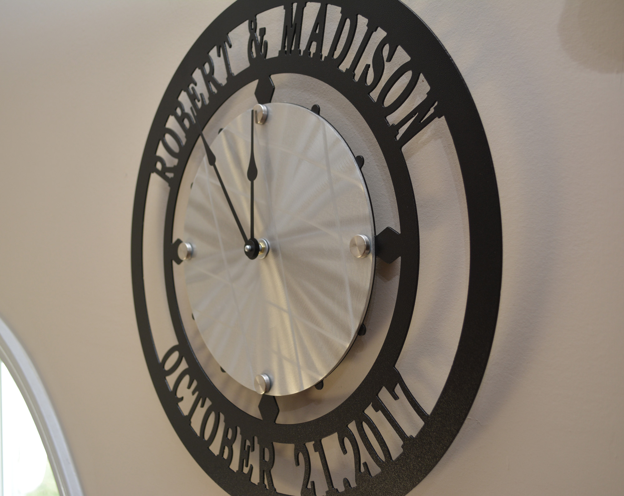 Custom Name And Established Date Wall Clock Clocks