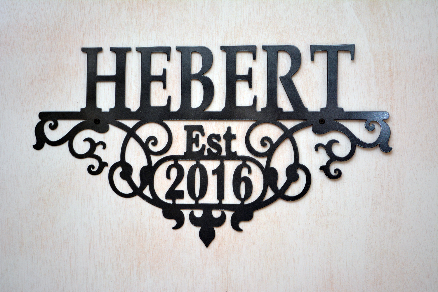 Personalized Family Name And Established Year Scroll Sign