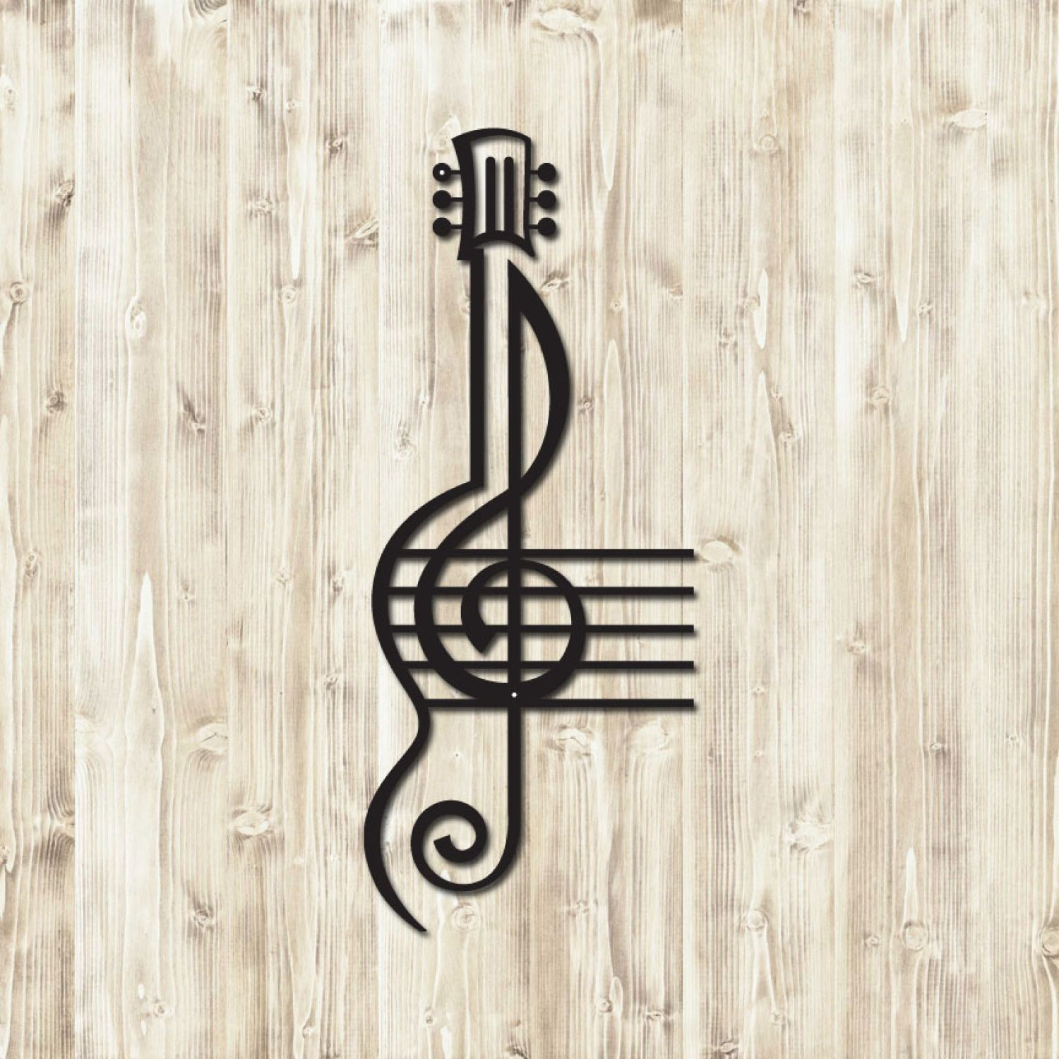 treble clef guitar  miscellaneous home decor