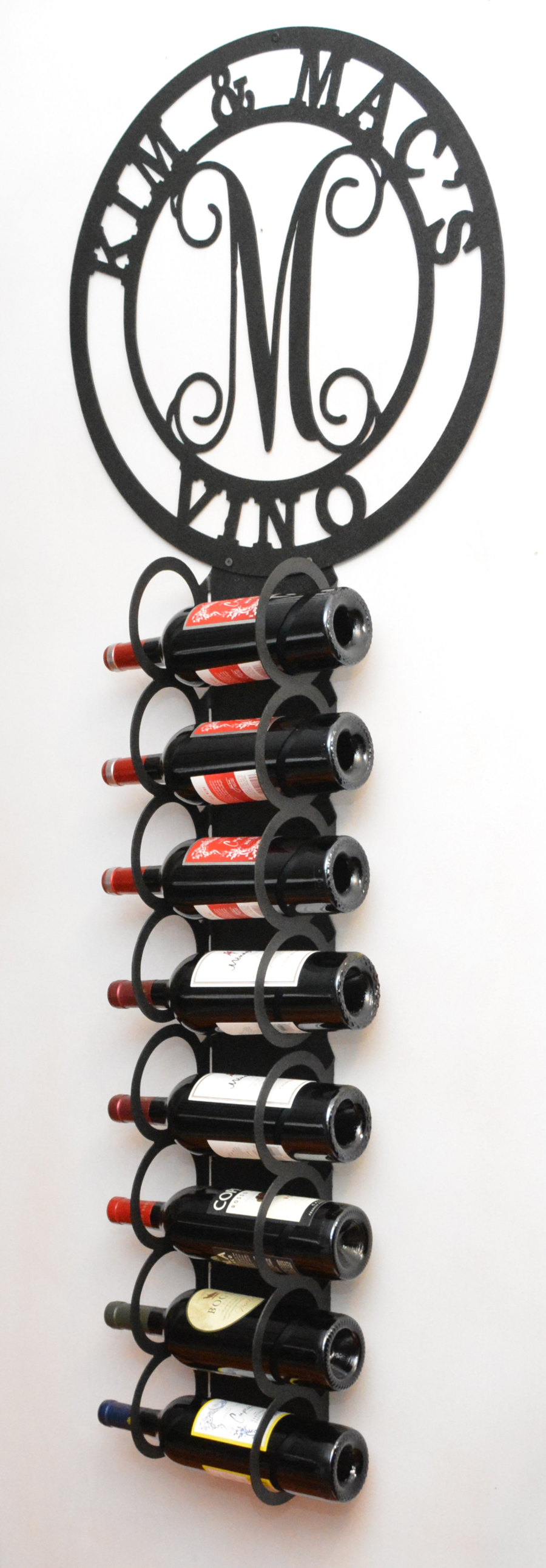 hover to zoom - Metal Wine Rack